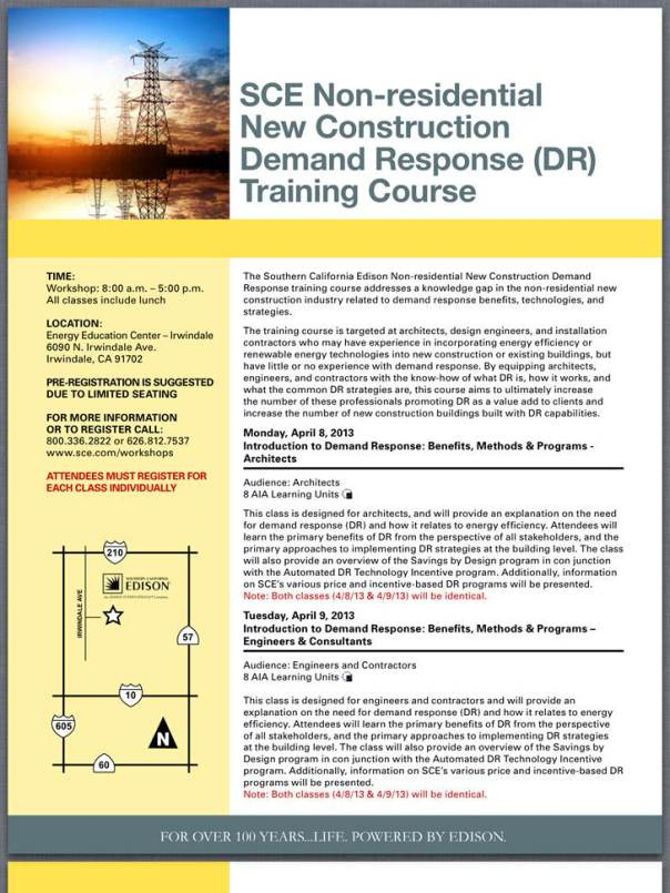 Southern California Edison workshop training